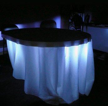 Under Table   Table Skirt Lights U0026 Ambient Room Lighting LED