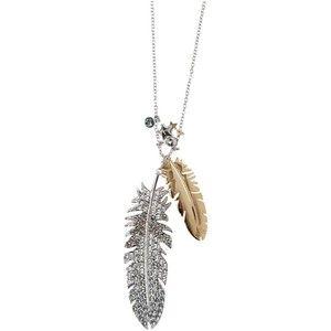Swarovski micha silver crystal feather pendant finishing touches swarovski micha silver crystal feather pendant aloadofball Images