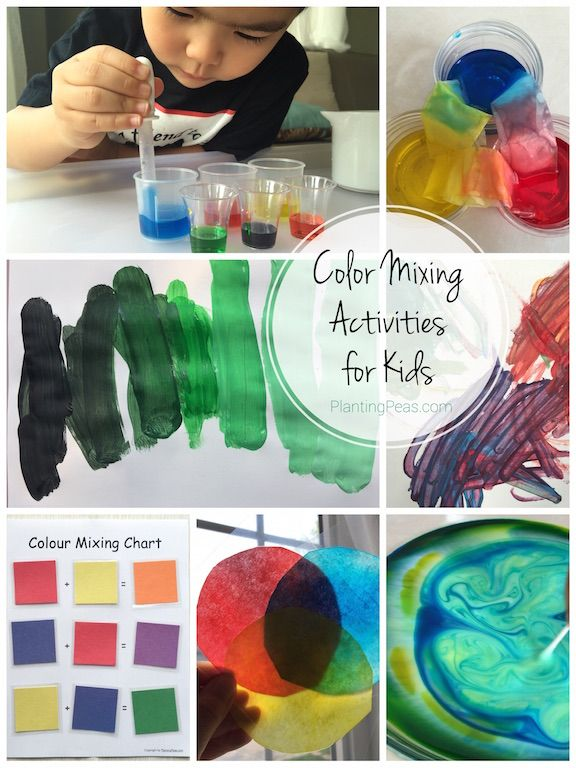 Color Mixing Activities For Kids Planting Peas Montessori Color Color Mixing Color Activities