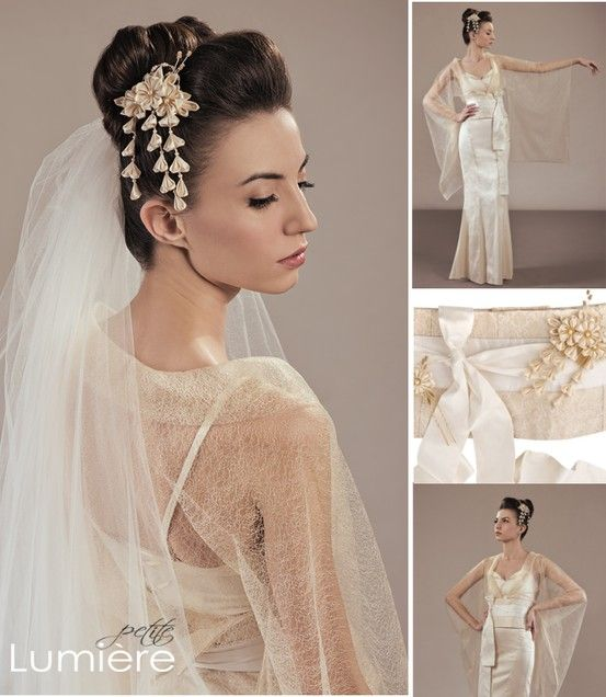 Bridal look of the day: A Japanese tradition inspired wedding dress ...