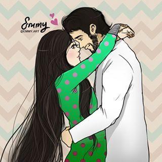وخلقناكم ازواجا Cute Couple Art Cute Muslim Couples Romantic Art