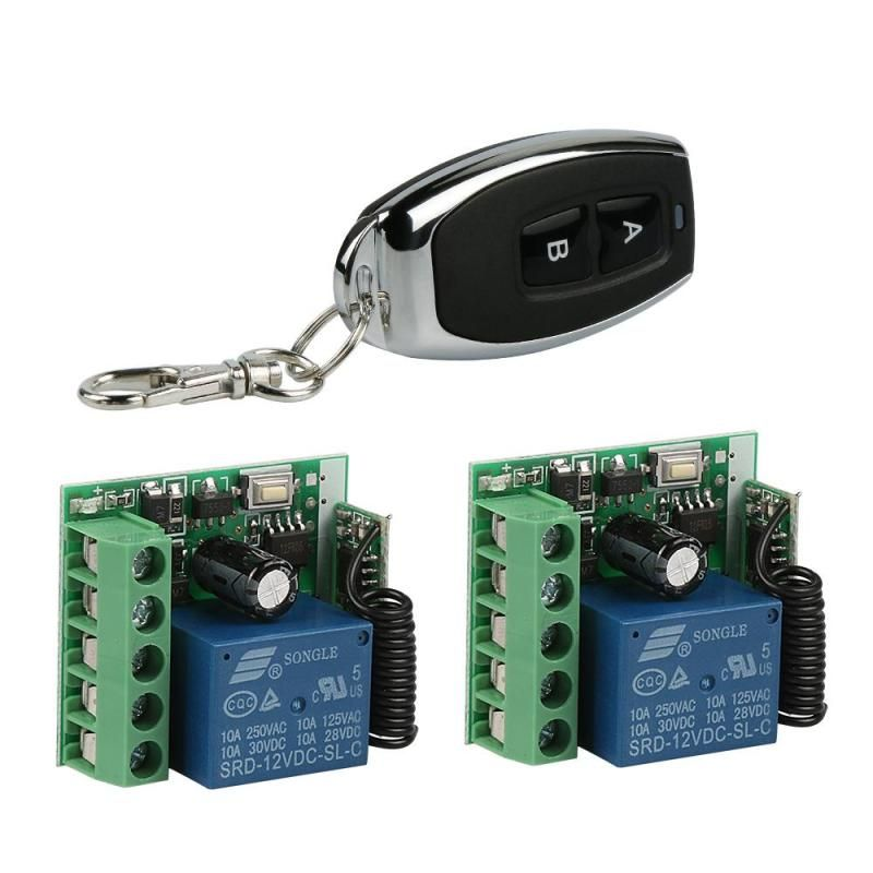433 Mhz Universal Dc 12v 10a 1ch Wireless Rf Remote Control Switch Receiver Module Transmitter For 433mhz D Remote Control Light Electronic Lock Remote Control