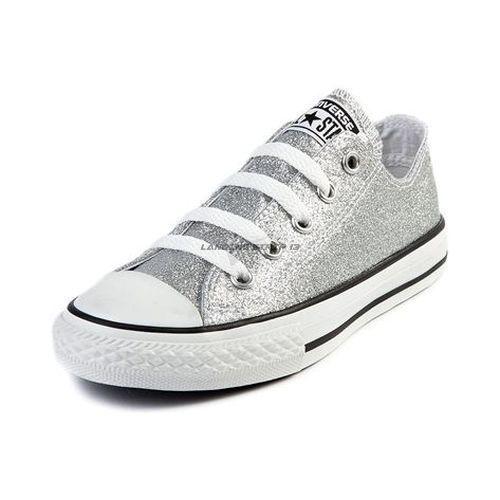 8e9b6ae67349 NEW Womens Converse Chuck Taylor All Star Lo Silver Glitter Trainer   Converse  Oxford  silverglittershoes
