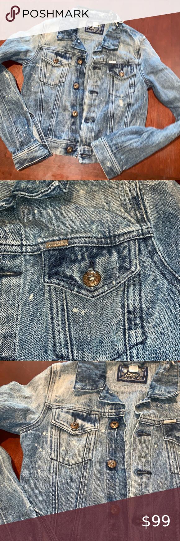 Diesel Distressed Faded Button Up Jean Jacket Diesel Denim Jacket Vintage Leather Jacket Vintage Denim Jacket [ 1740 x 580 Pixel ]