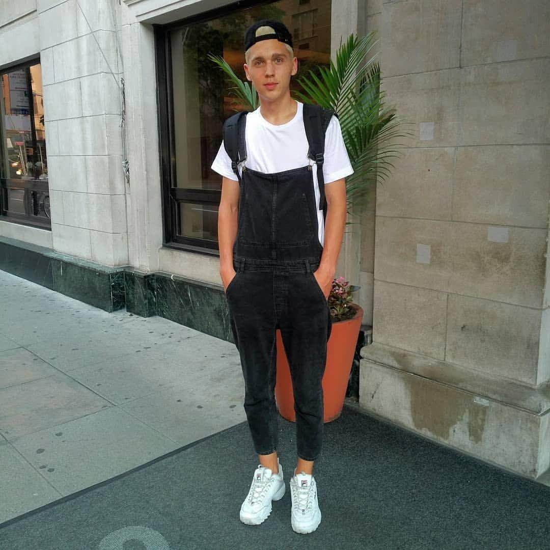 Boys in Overalls: Photo | Overalls, Overalls men, 90s fashion men
