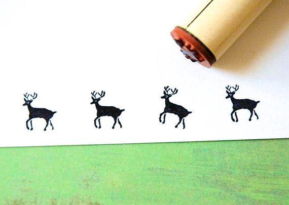 Deer Rubber Stamp By Norajane On Etsy 350