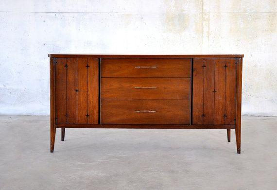 Danish Modern Buffet Credenza : Mid century modern danish style walnut buffet sideboard bar