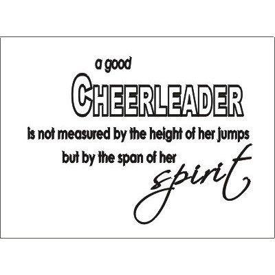 A good cheerleader..spirit Wall art vinyl decals letters