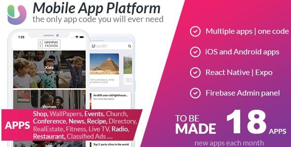 App Platform All in one React Native Universal Mobile