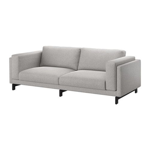 Nockeby Tallmyra White Black Three Seat Sofa Width 251 Cm 97 Cm Ikea Three Seat Sofa Nockeby Sofa Ikea Nockeby Sofa