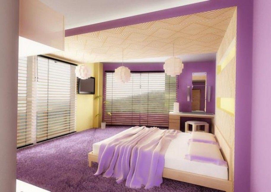 Amazing Purple Unique Bedroom Colors Blinds Window