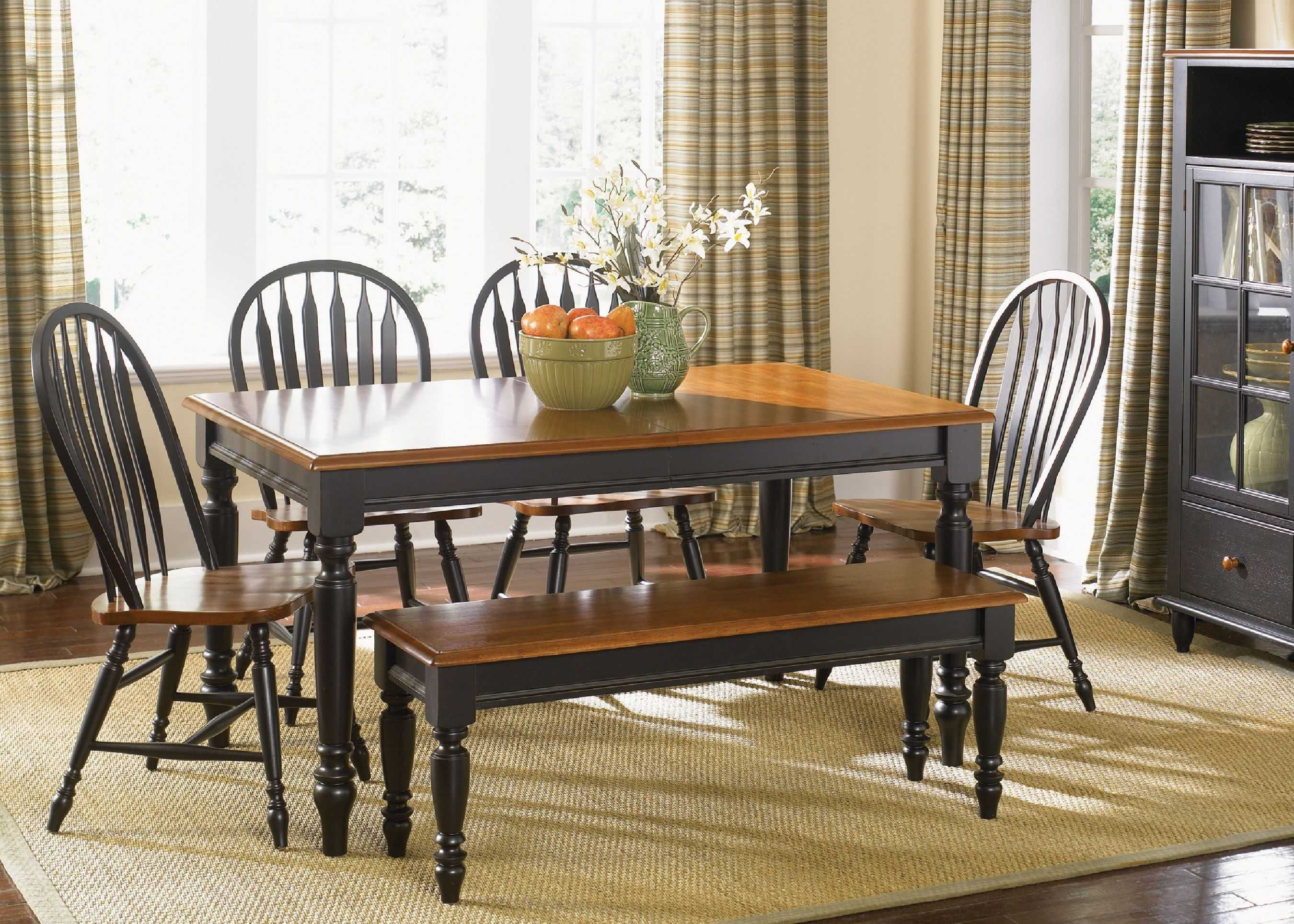 Country Dining Room Sets Dining Table Black Country Dining