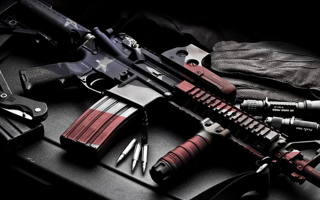 AR 15 American Flag