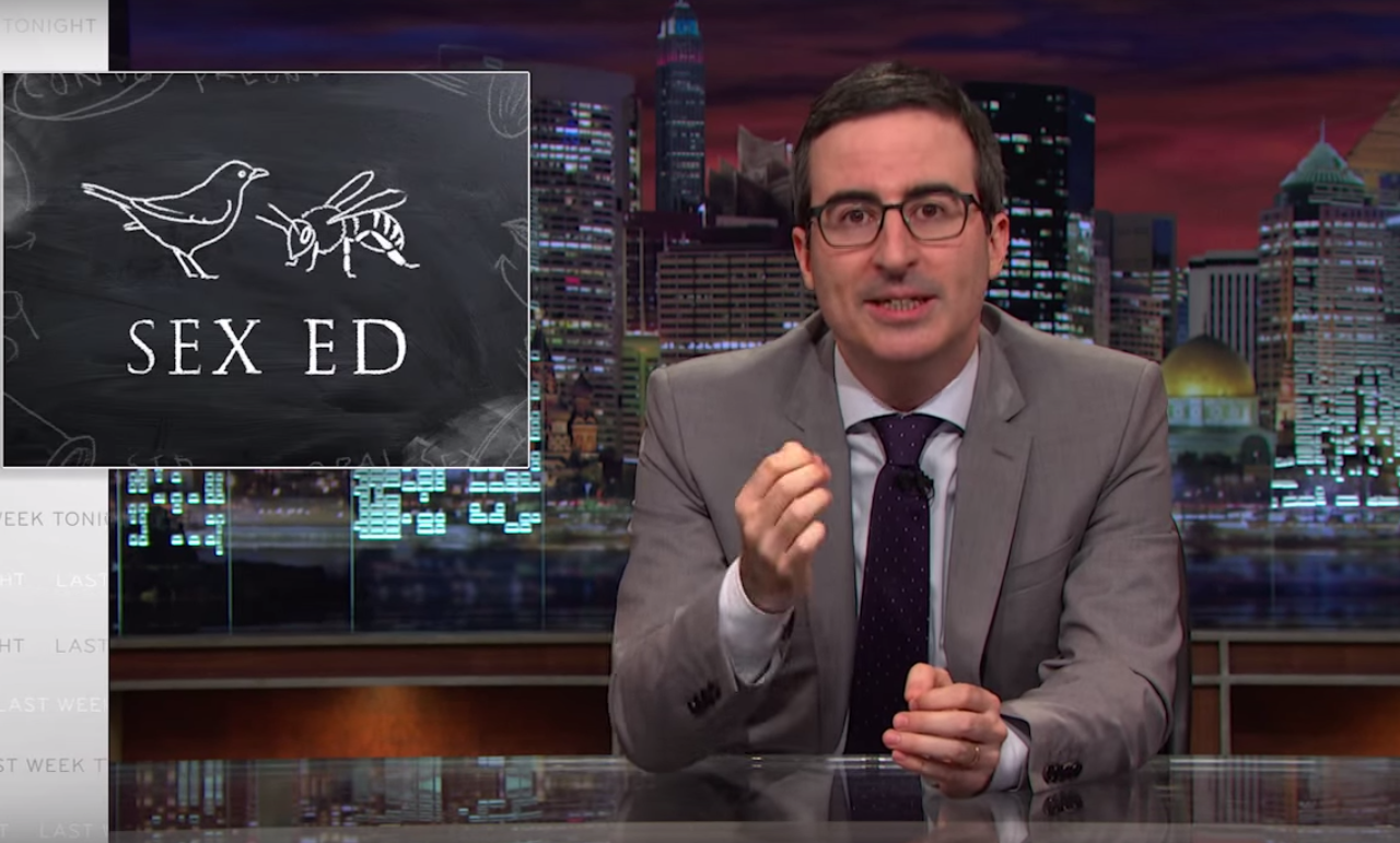"John Oliver is totally flabbergasted by American sex education: ""That is some incredible misinformation!"""