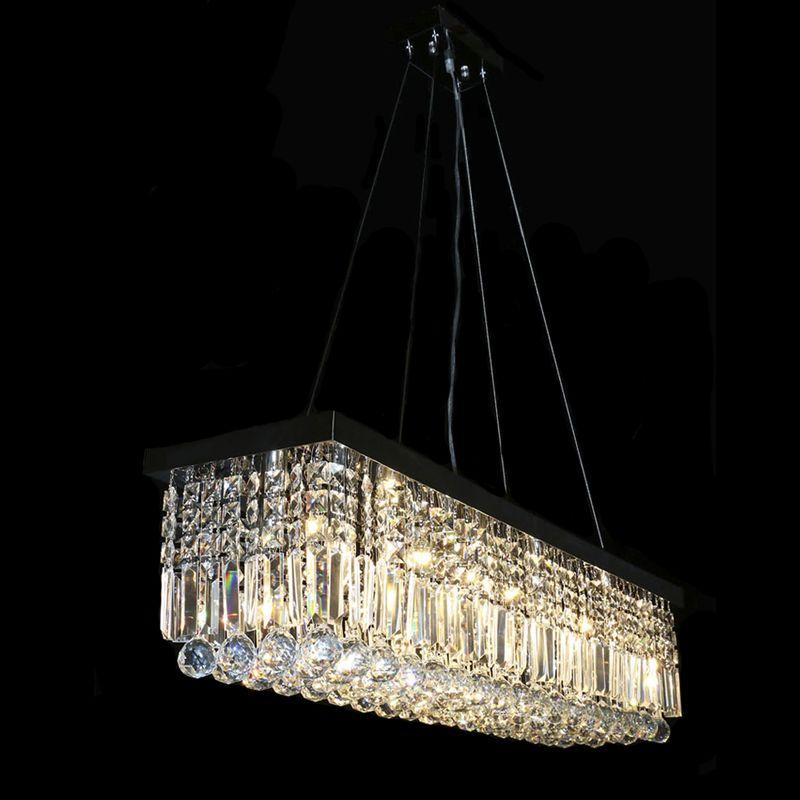 Hot sales modern oval crystal chandelier chrome suspenstion luminare hot sales modern oval crystal chandelier chrome suspenstion luminare dinning room light fixtures mozeypictures Images