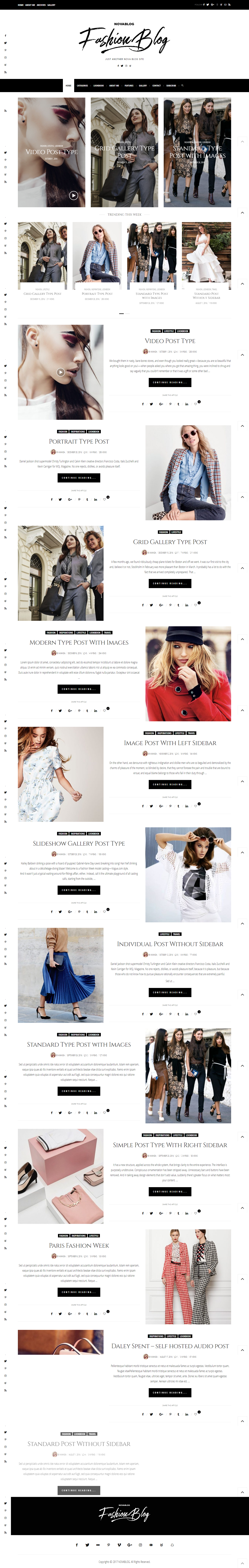 NovaBlog - Multi-Concept Blog / Magazine WordPress Theme | Blog ...