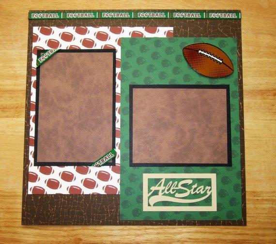 football scrapbook layout football scrapbook page 12 x 12