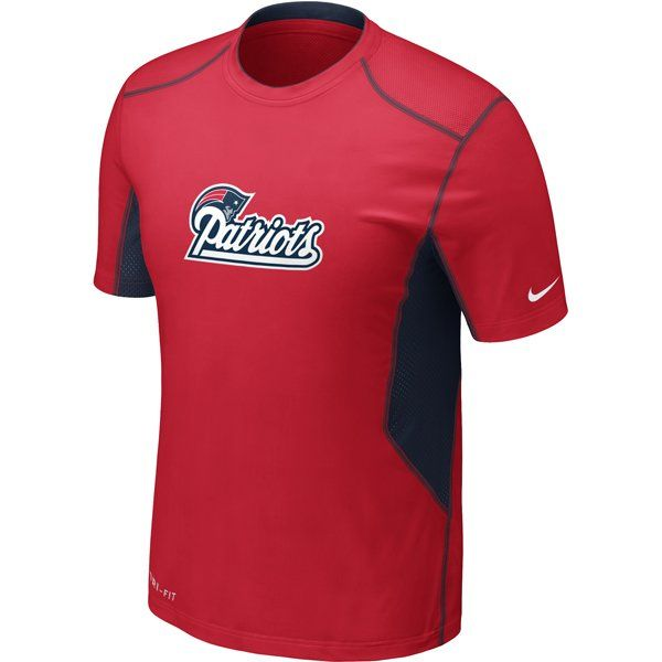 Patriots Nike Hypercool Top Red With Images New England Patriots Patriots Fans Patriots