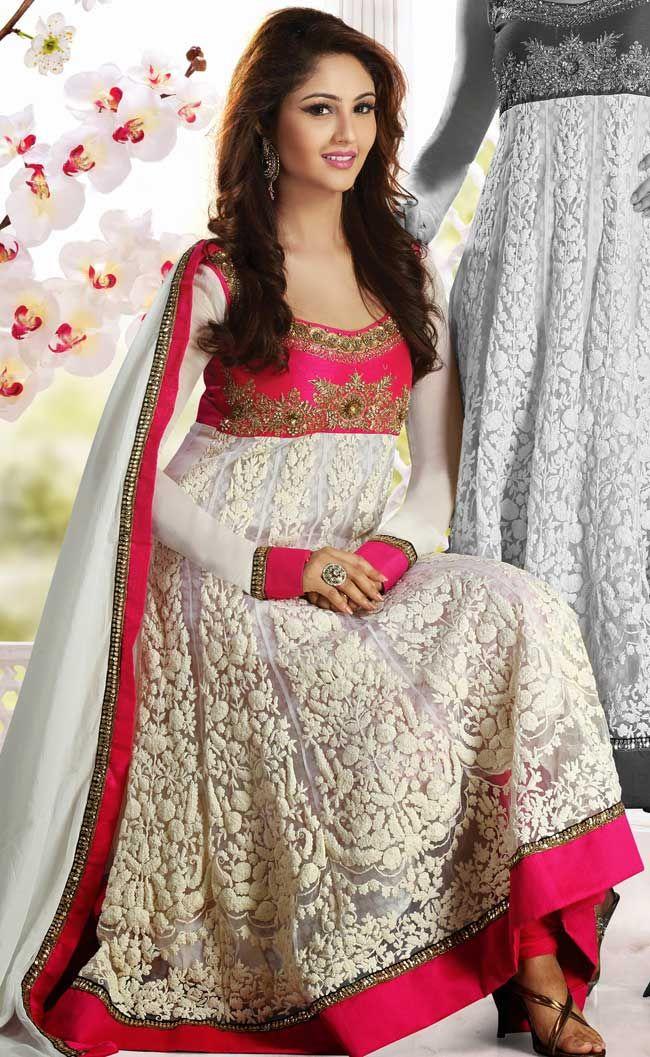 White Anarkali Salwar Kameez
