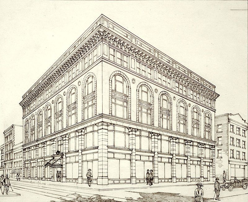 Ryrie Building perspective of the south and west facades