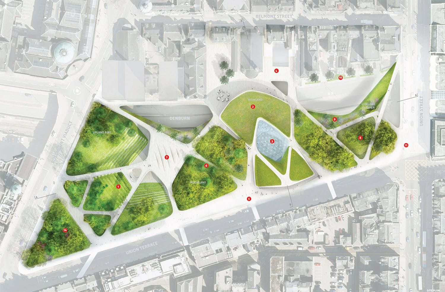 Diller Scofidio Renfro Beat Out Strong Competition At Aberdeen City Garden Project Landscape Plans Landscape Design Plans Landscape Design