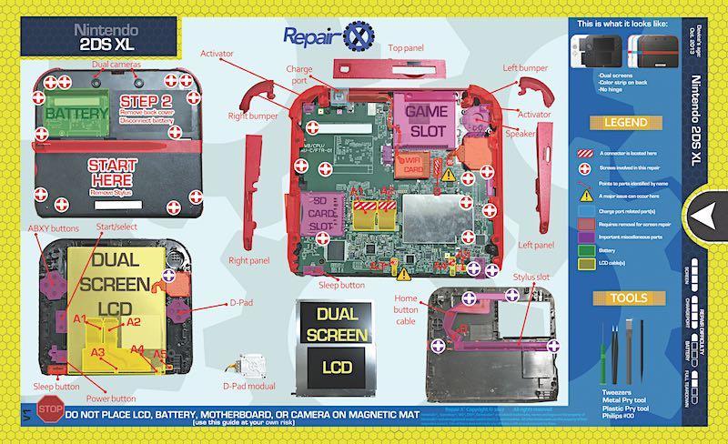 Nintendo 2DS XL Repair Schematic | Products | Pinterest | Nintendo on