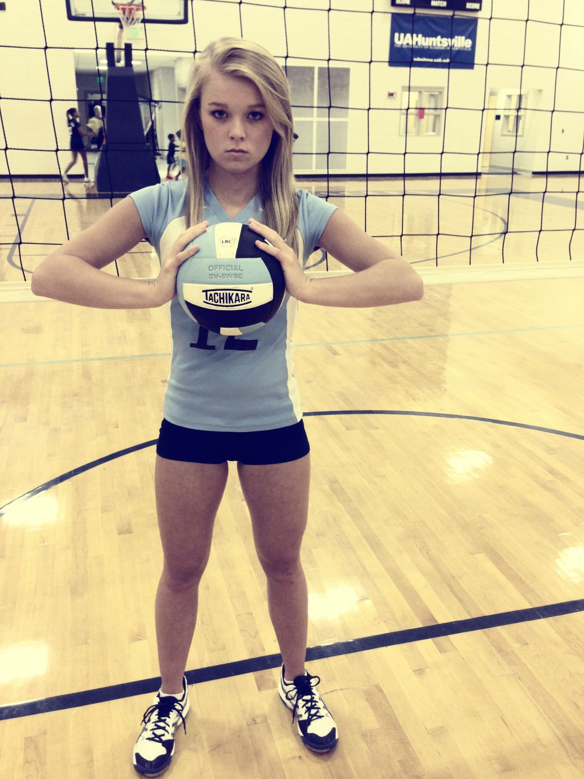 Hot volleyball players high school