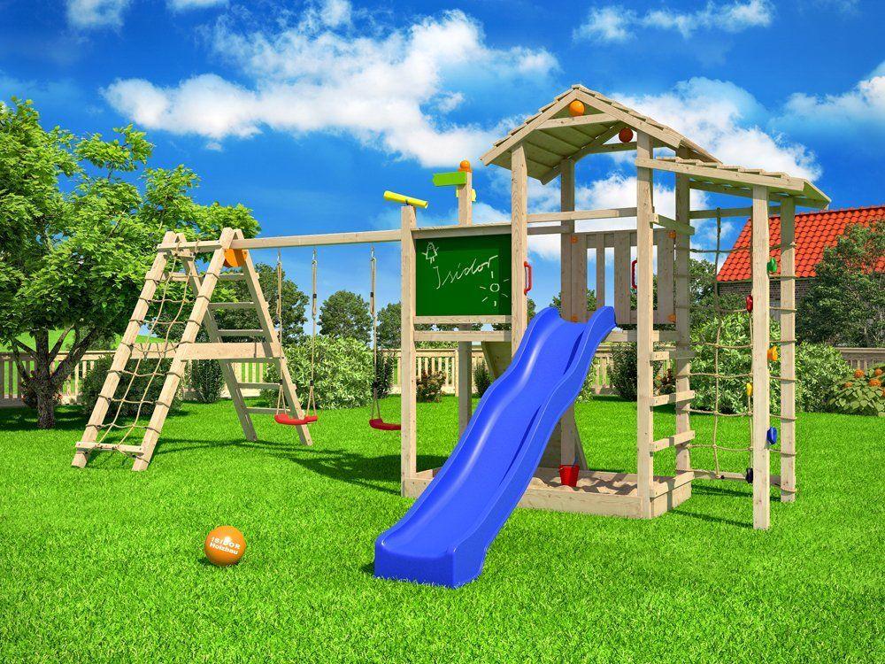 isidor bazzy boo spielturm kletterturm rutsche schaukel maltafel xl kletternetz erweiterter. Black Bedroom Furniture Sets. Home Design Ideas