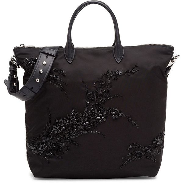9530e376b0 Prada Large Nylon Beaded Tote Bag ( 1