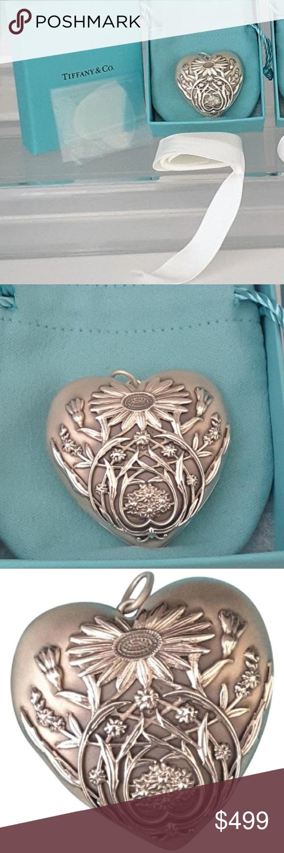 3993ee72256 Tiffany   Co Ziegfeld Daisy Heart Locket Pendant Tiffany   Co. Large size  Ziegfeld Daisy