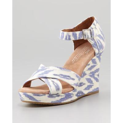 e119842e969 Women s Printed Hemp Strappy Wedge Sandal