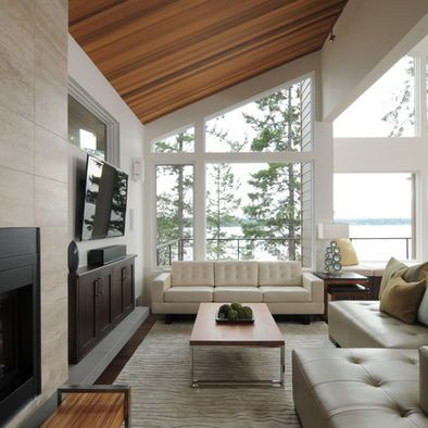 Contemporary Spaces Wood Ceiling Design Pictures Remodel Decor Custom Living Room Wood Ceiling Design Decorating Design