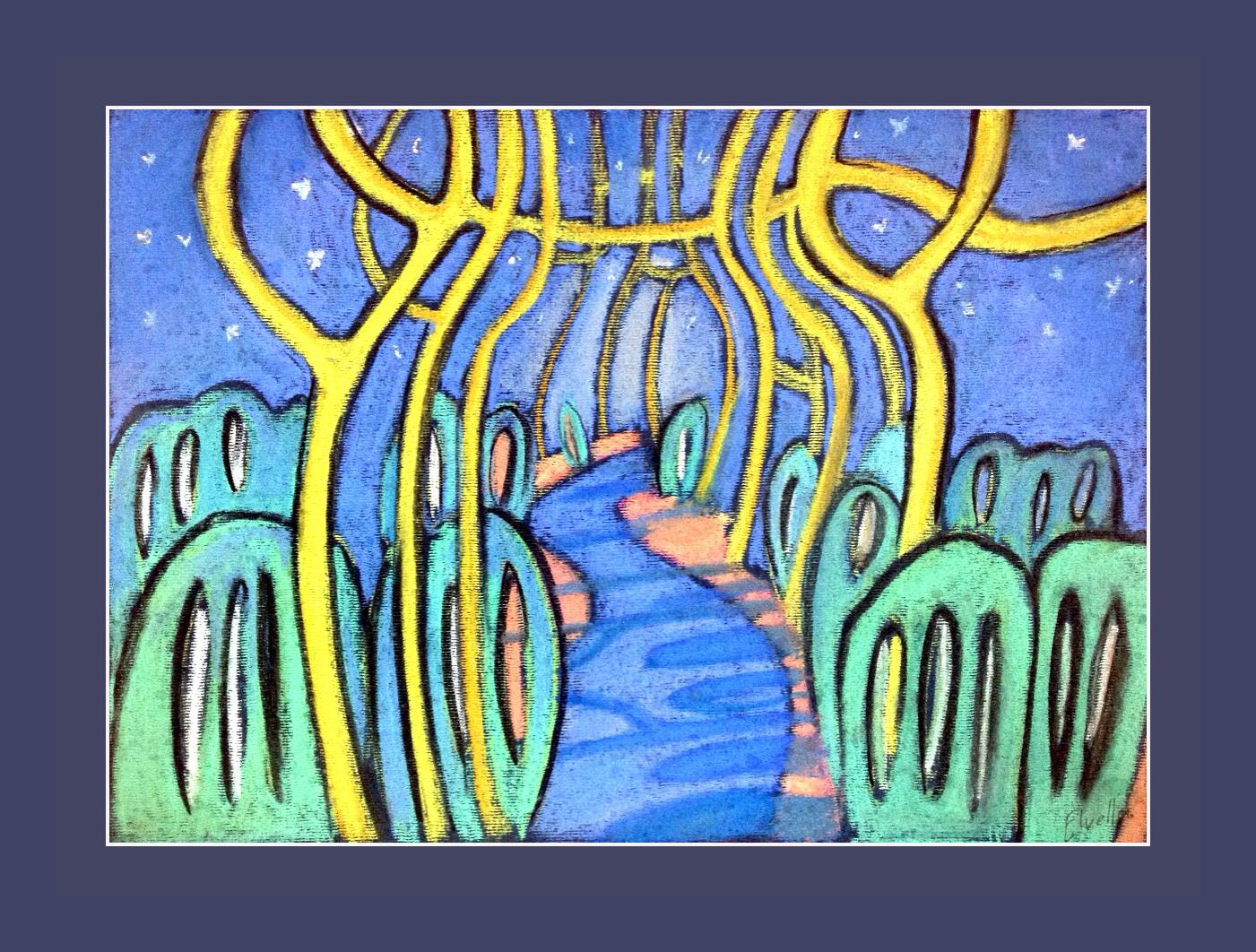 """Road"" 2014 30x21 pastels, Orxa Qarayev"