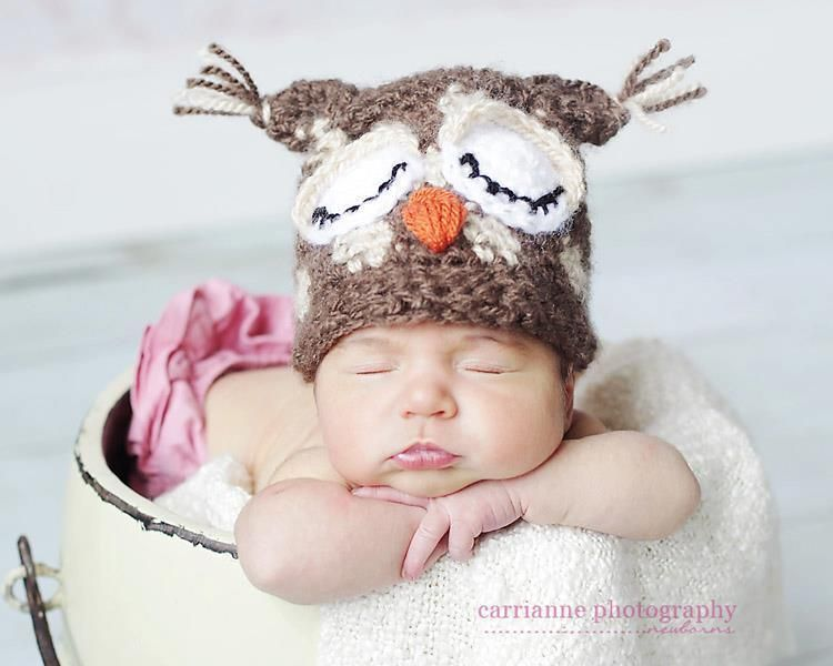 Spotted Sleepy Owl pattern by Kristi Simpson | Owl hat, Hat crochet ...
