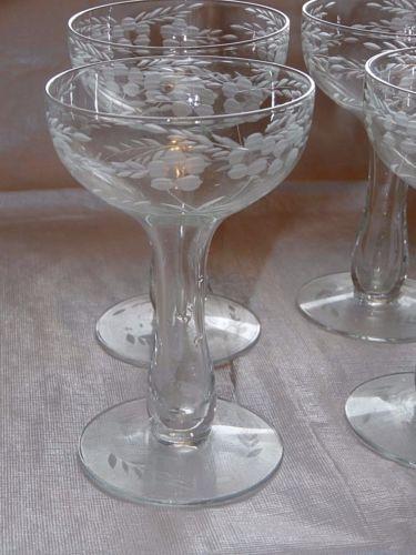 Antique Crystal Champagne Flutes