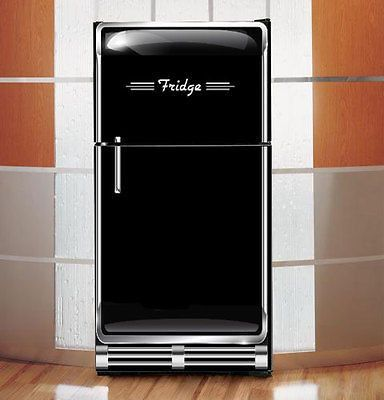 Vintage Black Refrigerator Wrap Rm Wraps Loves Old Looking Refrigerators So We Custom Design