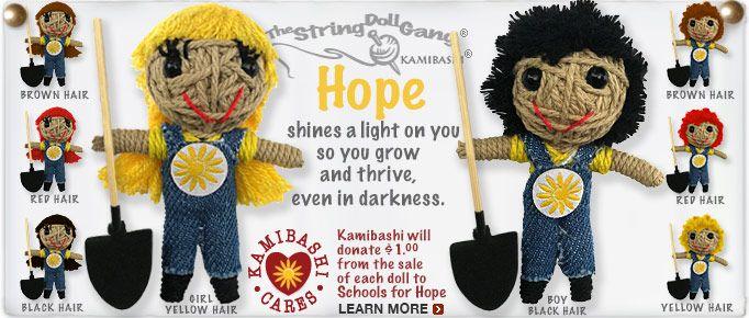 Kamibashi Hope Girl The Original String Doll Gang Keychain Clip