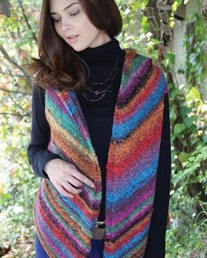d279d4dd9 This long vest beautifully shows off the amazing colors of Hanabatake!