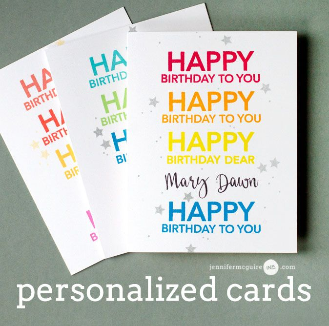 Personalized Cards Envelopes Giveaway Jennifer Mcguire Ink Personal Cards Jennifer Mcguire Cards Inspirational Cards