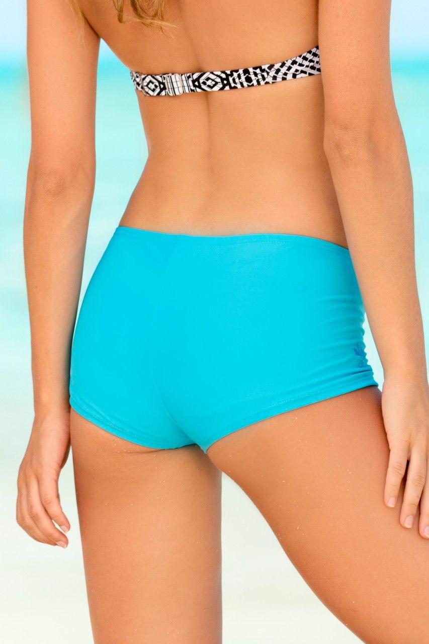 824912d78 Turquoise Boy Short Swim Bottom - Solid Turquoise