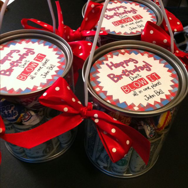 Birthday Gift Idea For Pre-Teens...fill Canister With $1