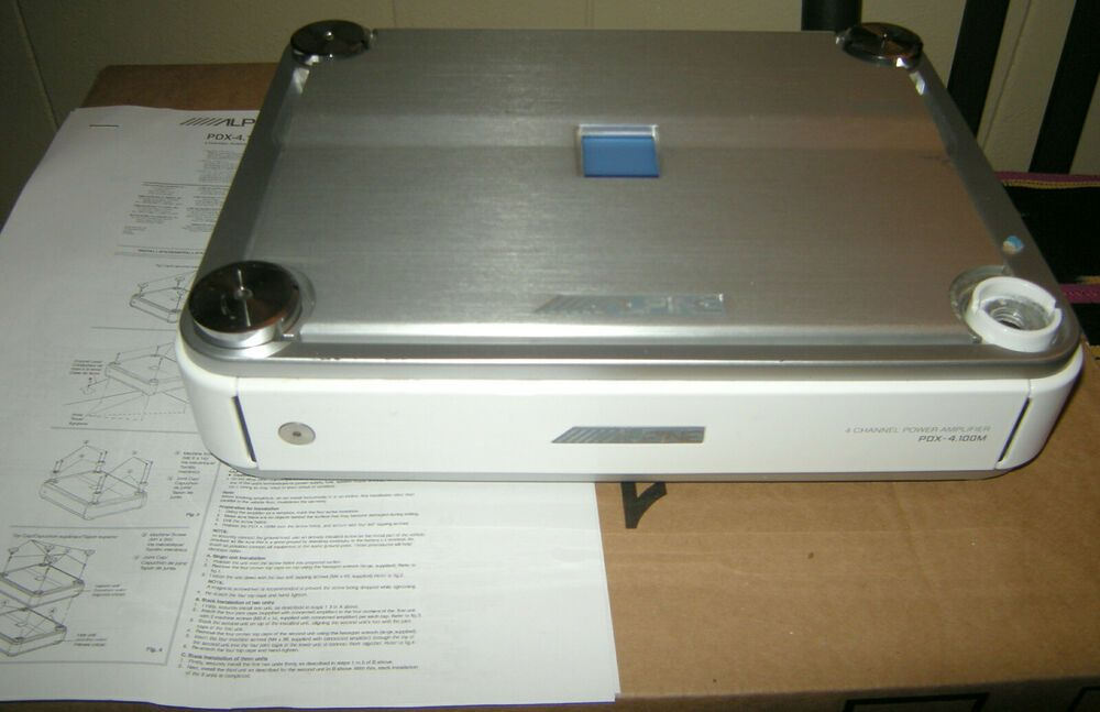 Alpine Model: PDX 4 100M Marine 4-Channel Power Amplifier