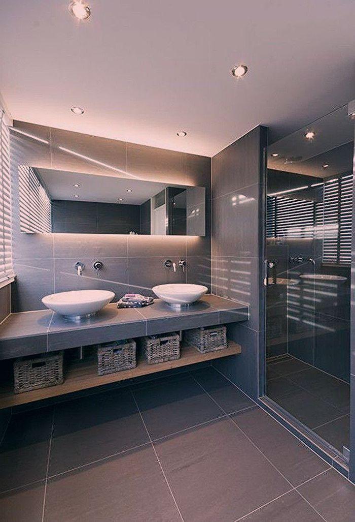 Bader Badezimmer Badezimmergestaltung Bele Eckig Hrau In