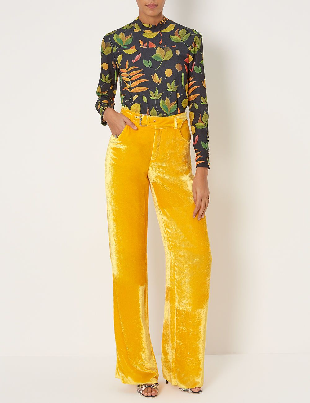 Yellow Velvet Wide Trousers | Clothes n\' Shit | Pinterest