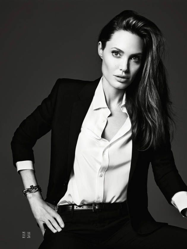 Angelina Jolie by Hedi Slimane for Elle.- She is such an inspiration to me
