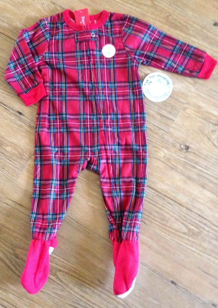 df03527948 Sleeper Footed Baby18 months Red Plaid Brinkley Flannel Unisex  FamilyPjs   OnePiece  EverydayHoliday