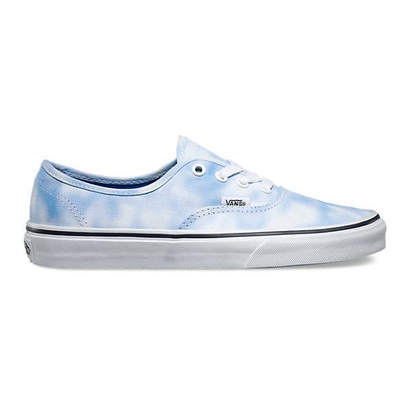 Authentic (€49) ❤ liked on Polyvore featuring shoes, palace blue, vans shoes, blue shoes, tye dye shoes, vans footwear and tie dyed shoes