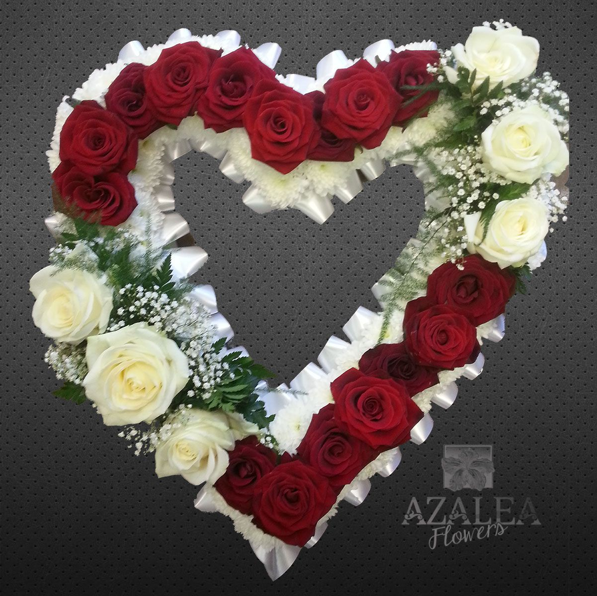 Open Heart With Red Roses Funeral Tribute Azaleaflowers