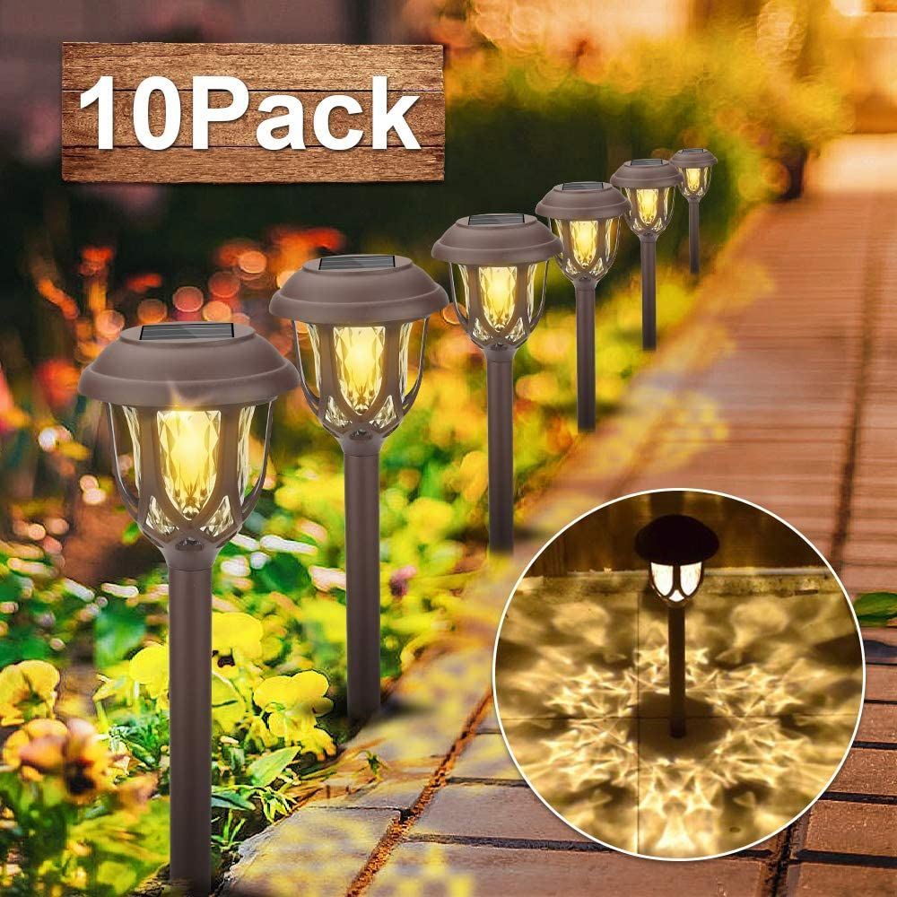 Vivibel Solarfackel 10er Set Solarleuchten Solar Licht Solarlampen