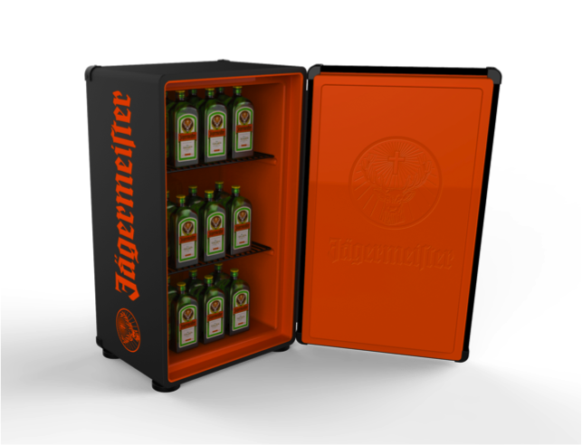 Jagermeister Fridge With Built In Amp Speaker Yes Please
